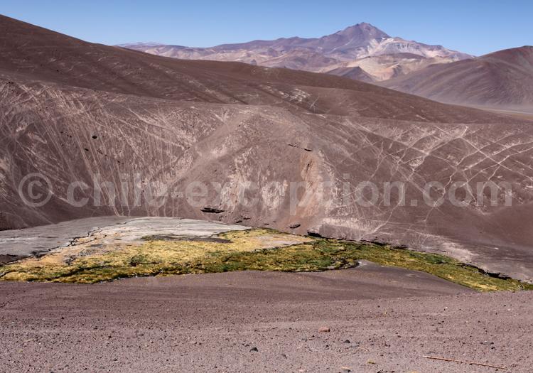 Río Lamas, volcan Copiapó ou Azufre, face Nord (6.052 m)