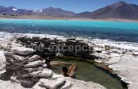 Thermes de la Laguna Verde, parc Nevado Tres Cruces