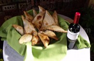 Empanadas et vin chiliens