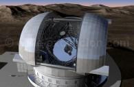 European Extremely Large Telescope. Le miroir principal a un diamètre de 42 mètres - Crédit ESO
