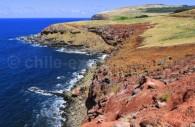 Côte sud-est de l'île de Pâques