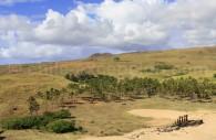 Plage Anakena et Ahu Nau Nau, île de Rapanui