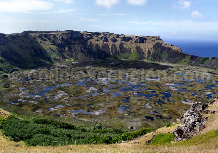Parc national Rapa Nui, volcan Rano Kau