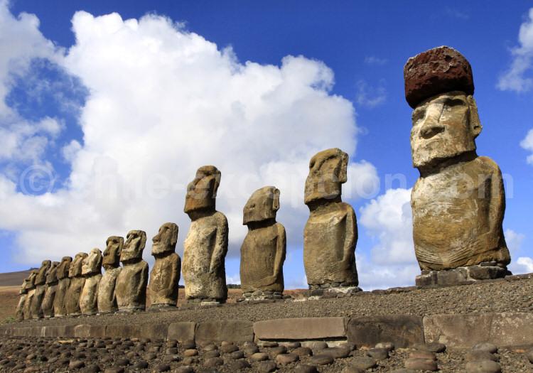 Les 15 statues de l'Ahu Tongariki, Rapanui