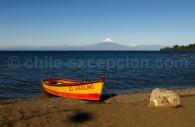 Volcan Osorno depuis la berge du lac Llanquihué à Frutillar