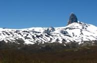 Cerro Pantojo vue entre les douanes argentine et chilienne
