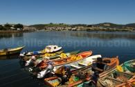 Embarcations de pêcheurs à Ancud, Grande Île de Chiloé