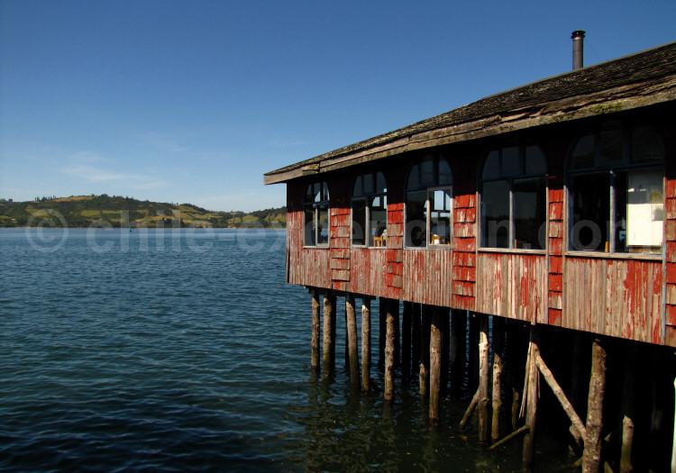 Restaurant sur pilotis à Castro, Grande Île de Chiloé