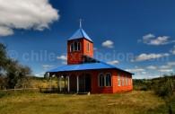 Chapelle prés du village de Quellón, Grande Île de Chiloé