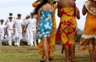 L'accueil à l'île de Pâques
