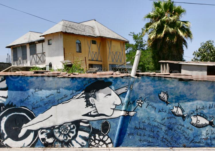 Santiago du Chili, quartier Bella Vista, art mural
