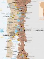 Carte Patagonie Nord: Temuco, Valdivia, Puerto Montt