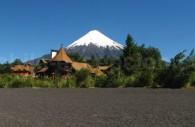 Plage de Petrohué et volcan Osorno