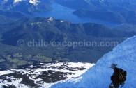 Vue depuis le volcan Lanín © Alain Rega