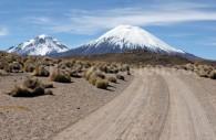 Parc Lauca, volcans Parinacota et Pomerape