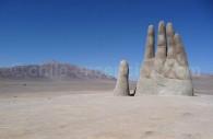 Mano del Desierto, al sud de Antofagasta.