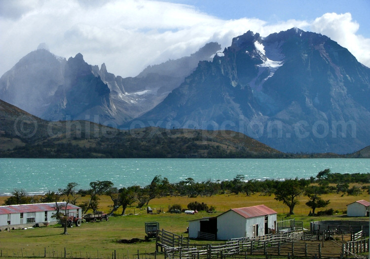 Panorama du Paine depuis l'estancia Lazo