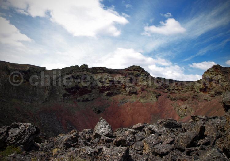 Parc national Pali Aike, cratère du volcan Pozo del Diablo. Crédit Simon Dubreuil