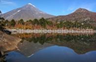 Laguna Huinfiuca et volcán Lanín, col Mamuil Malal