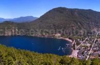 San Martín de los Andes et lac Lácar depuis le mirador Arrayán