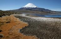 Volcans Parinacota, lac Chungará, Parc national Lauca