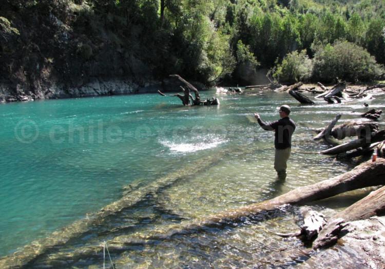 Journée de pêche sur le Río Puelo
