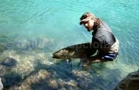 Journée de pêche sur le Lac Tagua