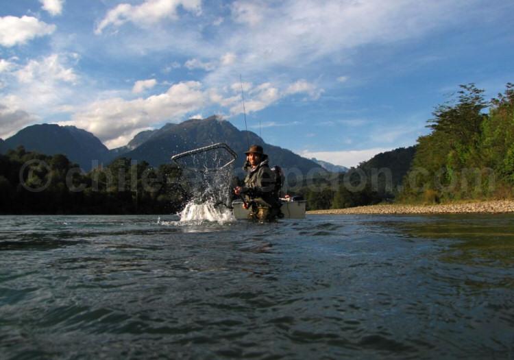 Journée de pêche sur l'Estuaire de Reloncaví