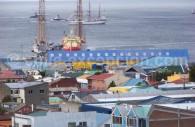 Vue sur le port de Punta Arenas