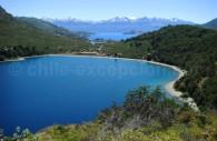 Lac Negro, Puerto Bertrand et fond lac General Carrera. Crédit Claudio Alvarado Solari