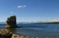 Lac Rupanco à l'embouchure du río Rahué