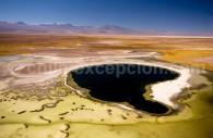 Salar d'Atacama vu du ciel, Région Atacama, Chili