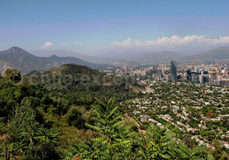 Santiago depuis le Cerro San Cristóbal