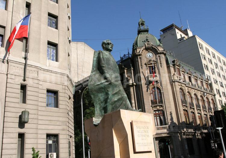 Salvador Allende, plaza de La Constitución, Santiago de Chile