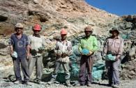 Mine de cuivre, malachite et azurite, désert d'Atacama