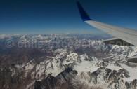 Survol des Andes au départ de Santiago
