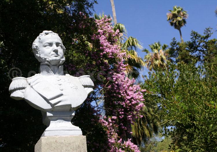 Statue de Bernardo O'Higgins, ville de Santa Cruz