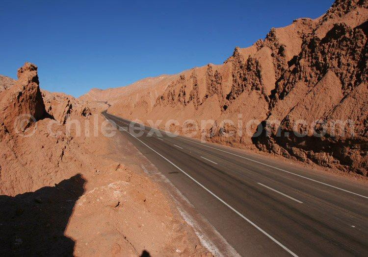 Route de San Pedro de Atacama à Calama, Cordillière de Sel