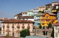 Maisons multicolores de Valparaiso