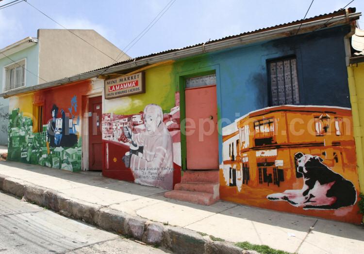 L'art mural, Cerro Bella Vista, Valparaiso