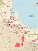 Carte et plan de Valparaiso