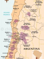 Carte des vins du Centre du Chili