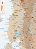 Carte Patagonie Nord, Chili et Argentine
