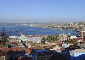 Vue de Valparaiso depuis l'hôtel Acontraluz