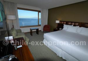 Hôtel Cumbres Patagonia, chambre matrimoniale