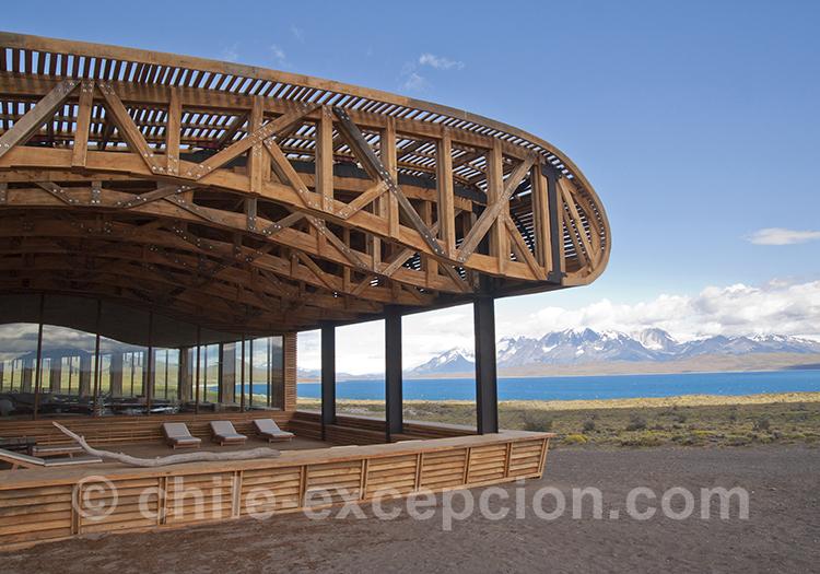 Extérieur de l'hôtel Tierra Patagonia, Chili