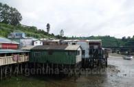 Palafitos, maisons traditionnelles de Castro, île de Chiloé