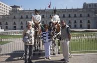 Pose devant le Palacio de la Moneda