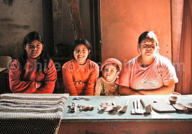 Tissus et artisanat Mapuche, Patagonie