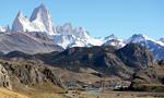 Vue sur le village d'El Chaltén, Patagonie argentine